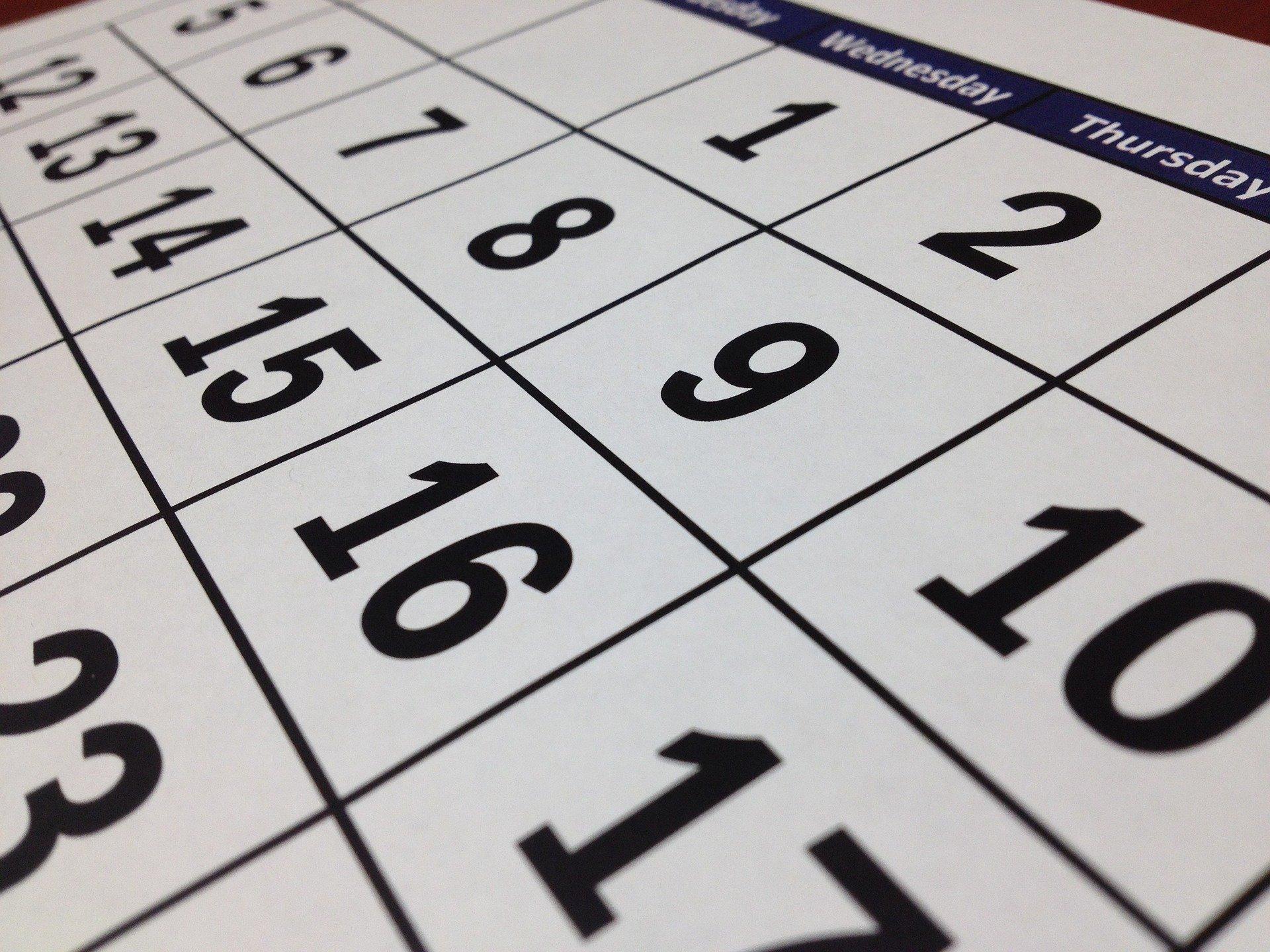 診療日カレンダーの画像